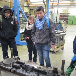 """Werksbesichtigung bei """"Gelochte Bleche"""" in Dillingen"""