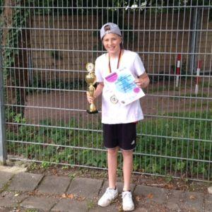 Die Anne-Frank-Schule bei den Saarländischen Schultanzsportmeisterschaften